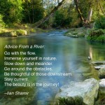 Advice from a river